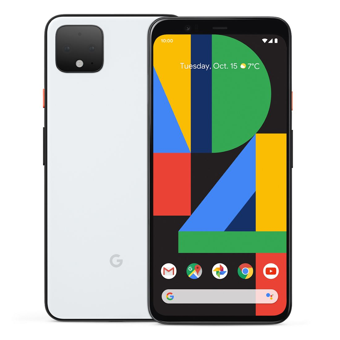 """Google Pixel 4 XL (6.3"""", 16MP, 128GB/6GB) - Clearly White"""