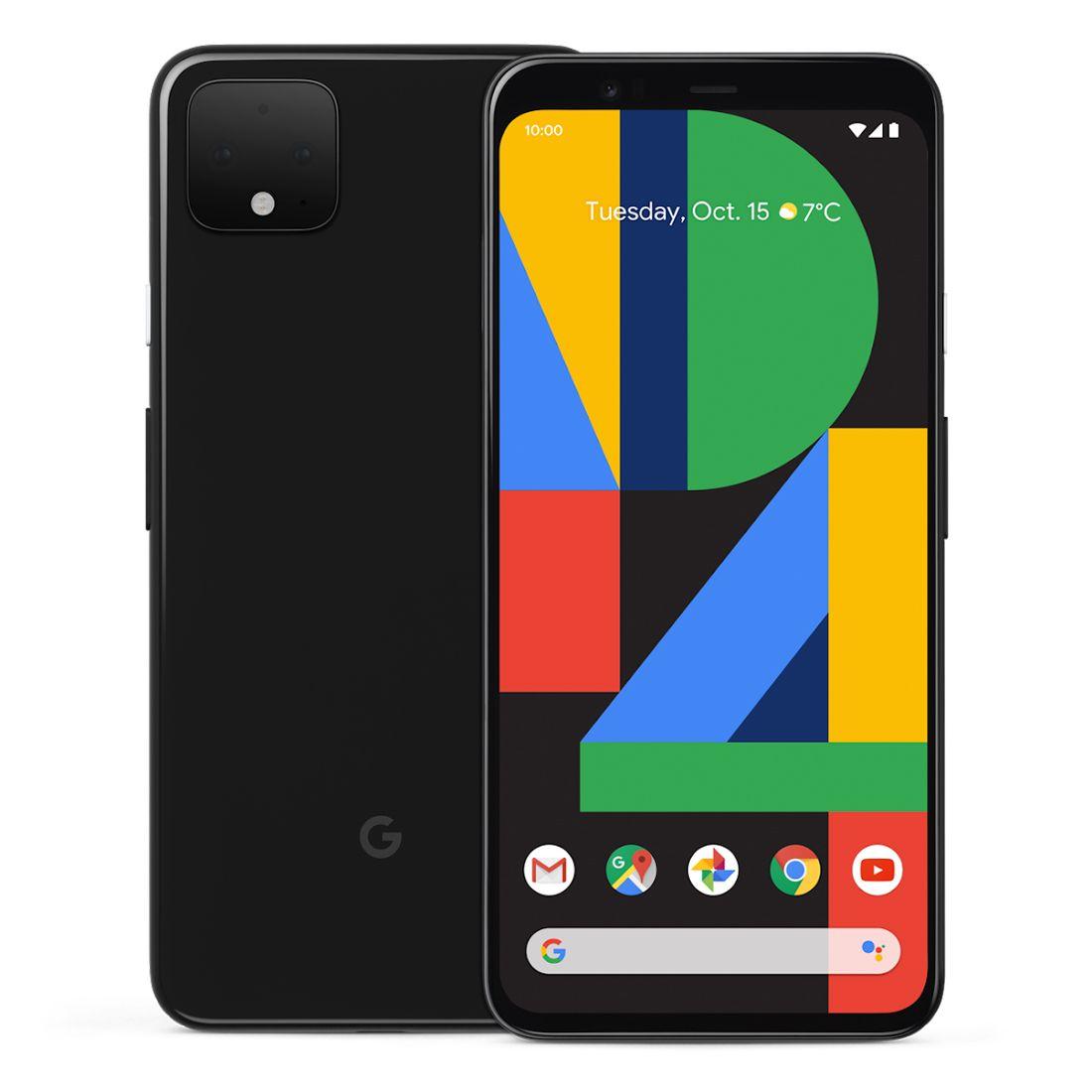 """Google Pixel 4 (5.7"""", 16MP, 128GB/6GB) - Just Black"""