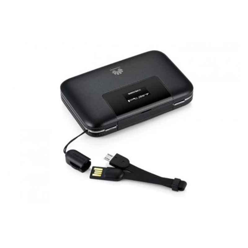 Huawei E5770 Mobile Wifi Pro Router (4G/LTE, 5200mAh Powerbank) - Black