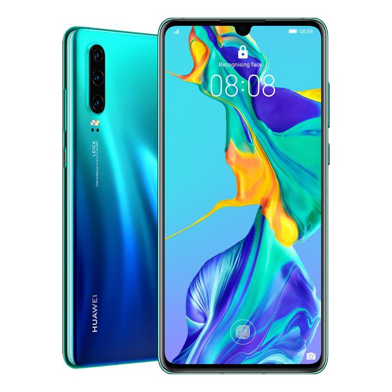 """Huawei P30 (Dual SIM 4G/4G, 6.1"""", 128GB/6GB) - Aurora"""
