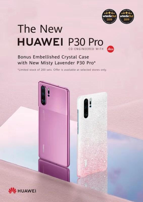 Huawei P30 Pro (Dual SIM 4G, Bonus Crystal Case) - Misty Lavender