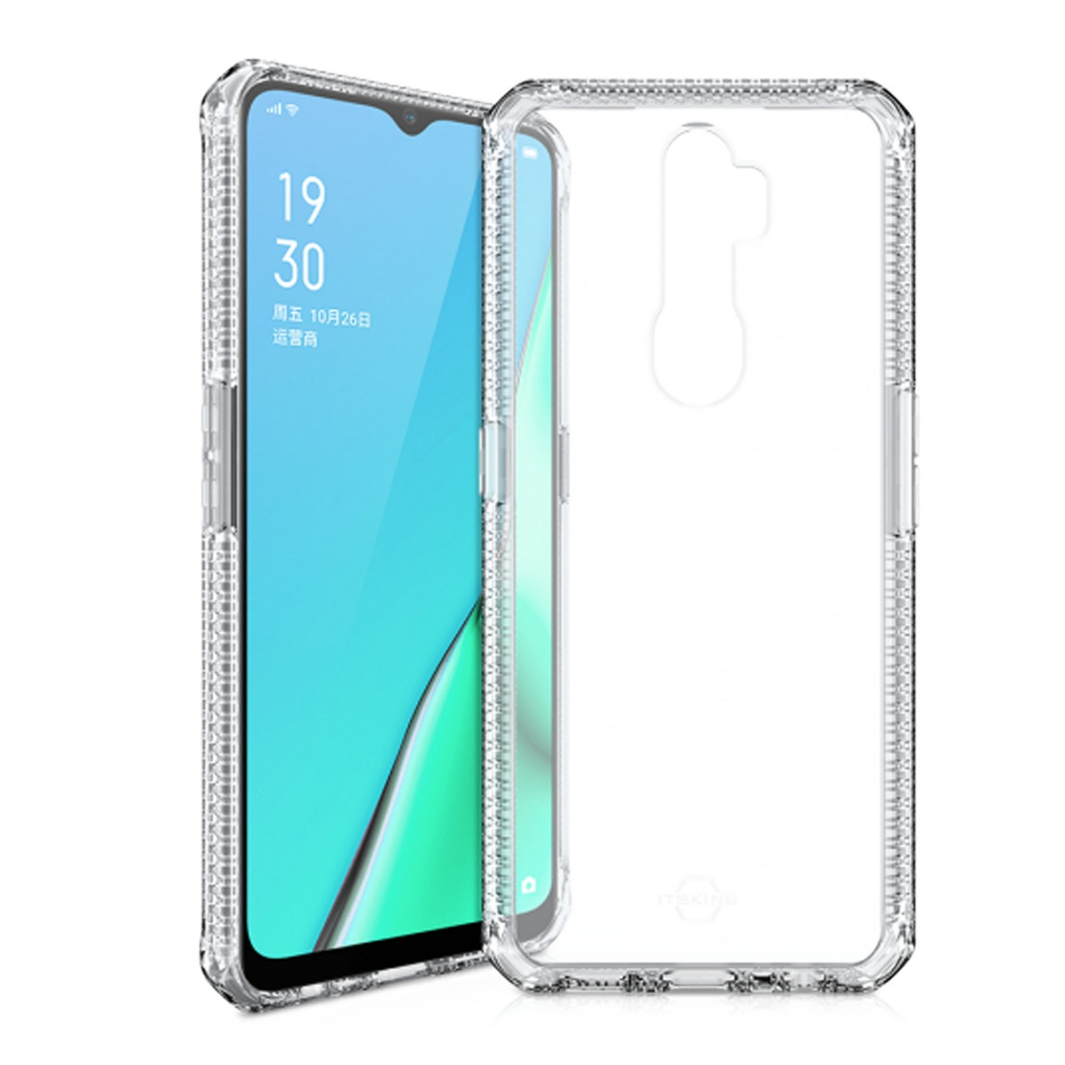 Itskins Hybrid Clear 2M/6.6 Ft Laboratory Drop Certified for OPPO Reno A9/A5(2020) Clear