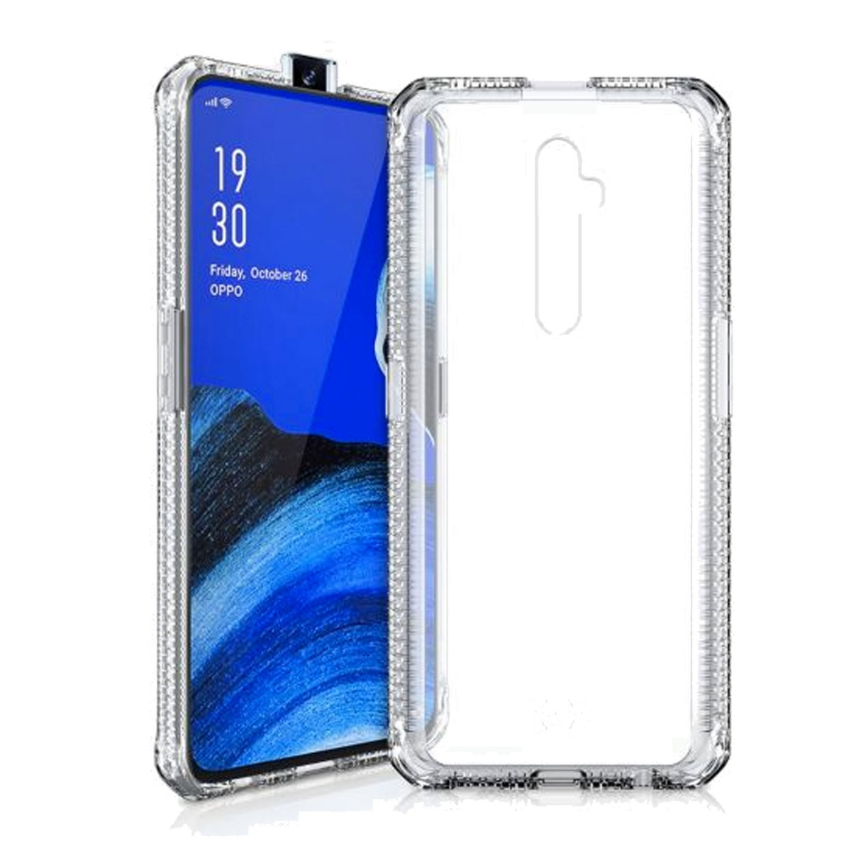 Itskins Hybrid Clear 2M/6.6 Ft Laboratory Drop Certified for OPPO Reno 2 Z Clear