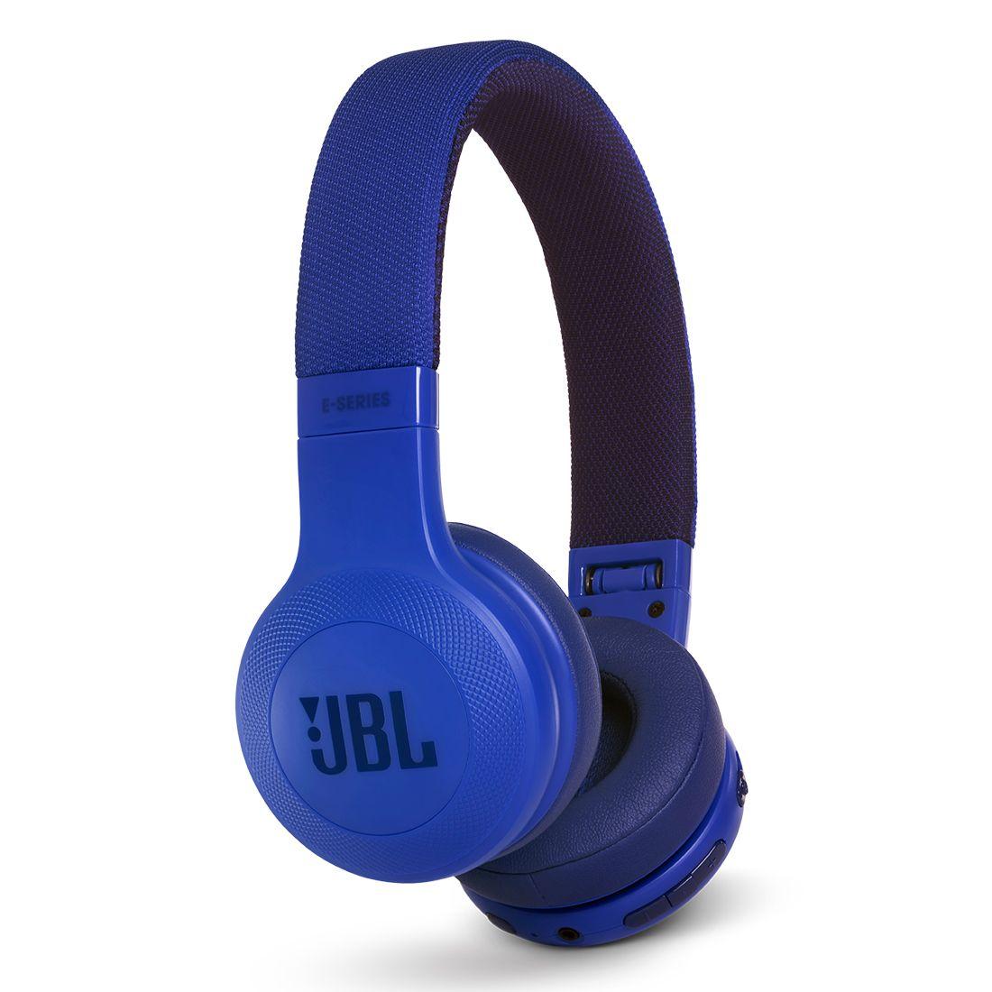 JBL E45BT On-Ear Wireless Headphones - Blue