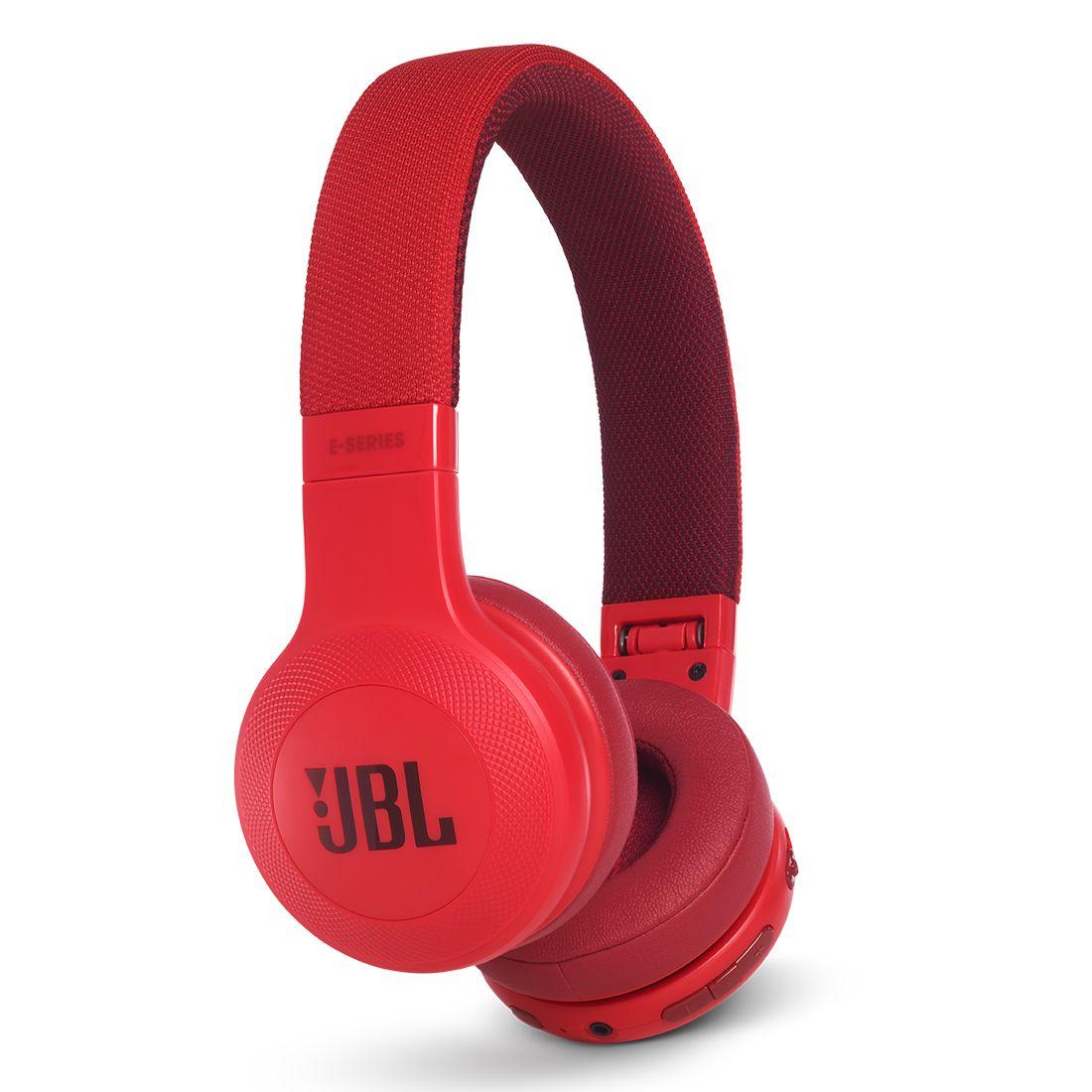JBL E45BT On-Ear Wireless Headphones - Red
