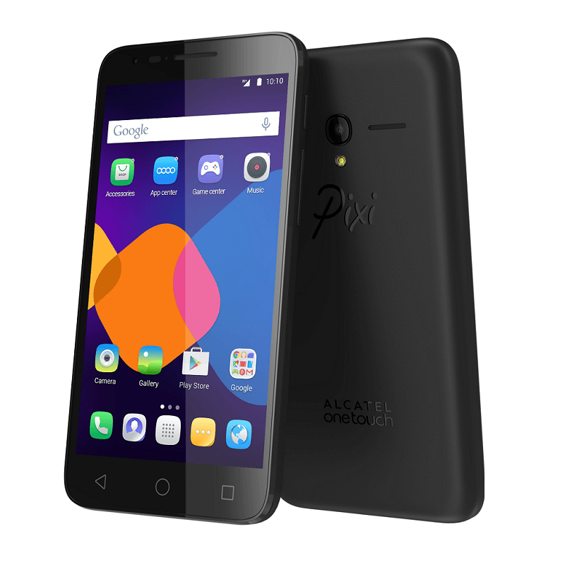 "Alcatel OneTouch Pixi 3 4.5"" 5017A (4G, 8MP, Optus Unlocked) - Black"