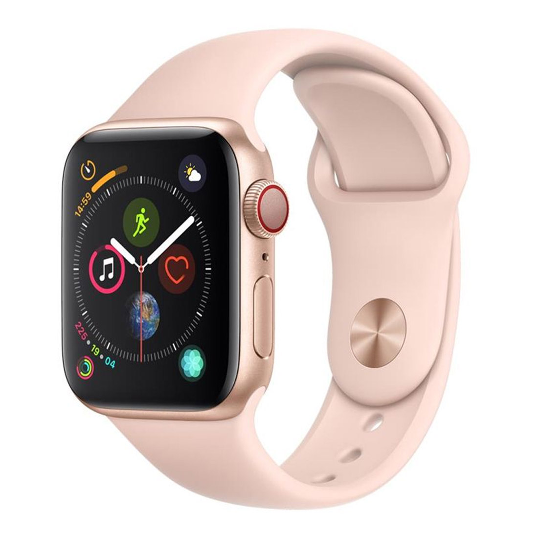 [Good Condition - Pre Owned] Apple Watch 44mm S4 (Cellular) - Gold Al Case w/ Pink Sand Sport Band