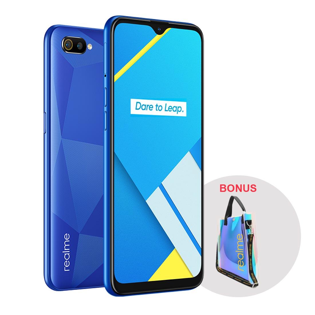 realme C2 (Dual Sim 4G, Bonus Tote Bag) -Â Diamond Blue