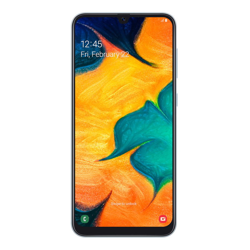 "Samsung Galaxy A30 (6.4"", 13MP, 32GB/3GB) - White"
