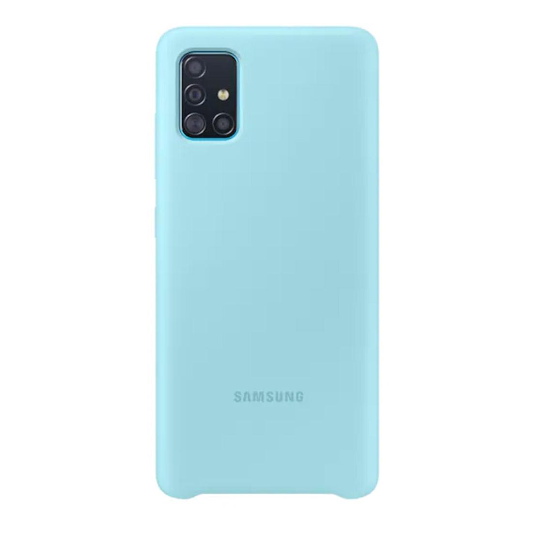 Samsung Galaxy A51 Silicone Cover - Blue