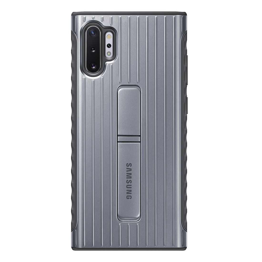 Samsung Galaxy Note 10+ Plus Protective Standing Cover - Silver