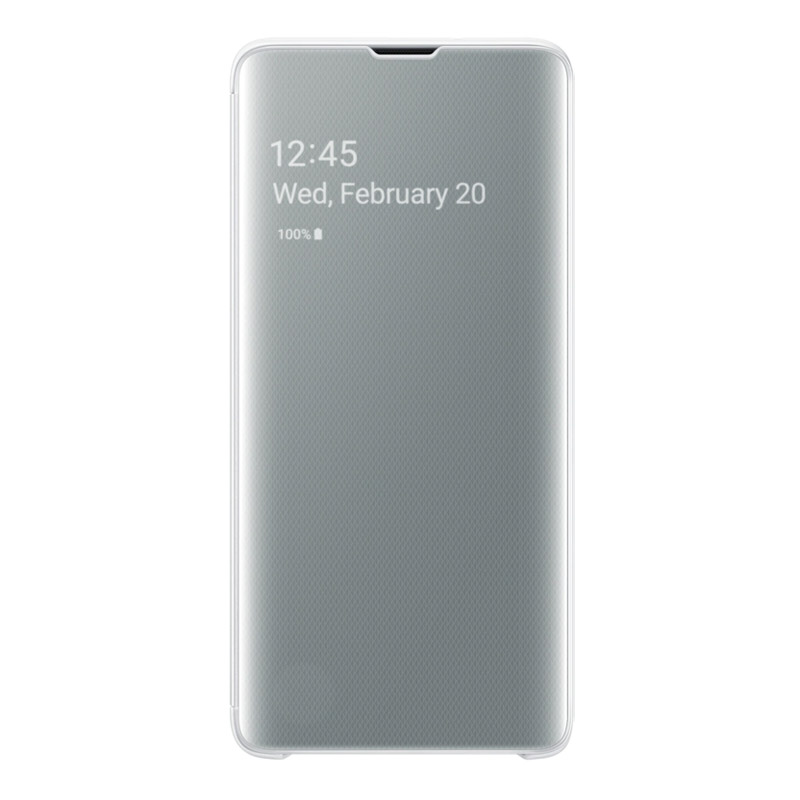 Samsung Galaxy S10 Clear View Cover - White