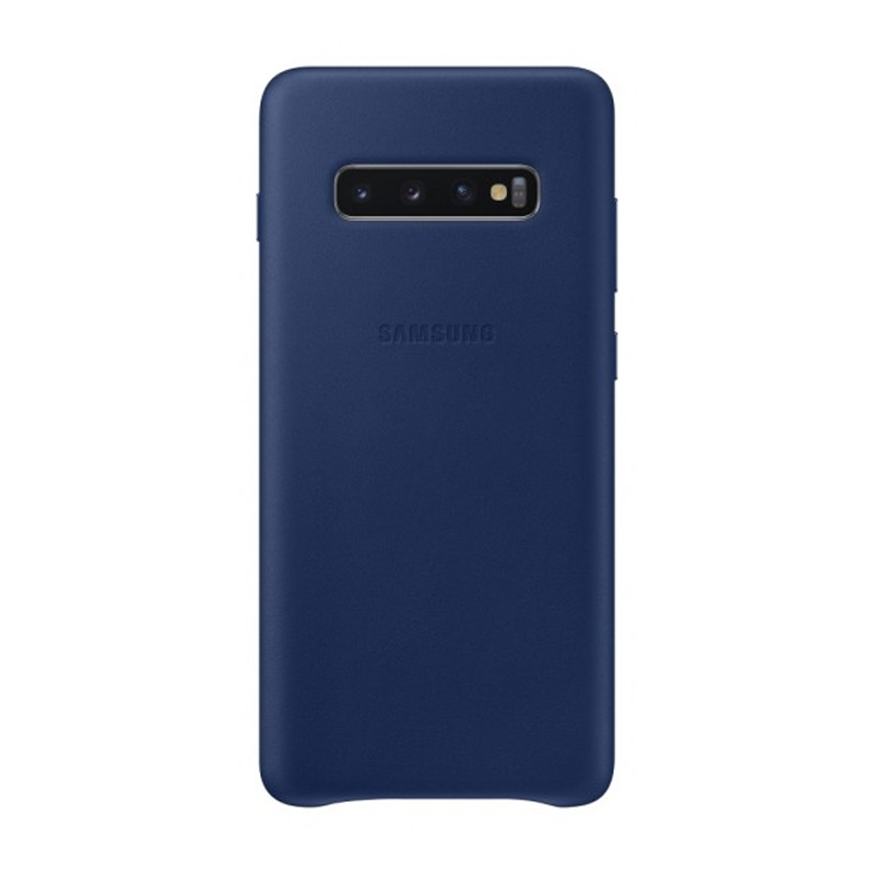 Samsung Galaxy S10+ Plus Leather Back Cover - Navy
