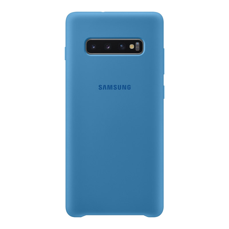Samsung Galaxy S10+ Plus Silicone Cover - Blue