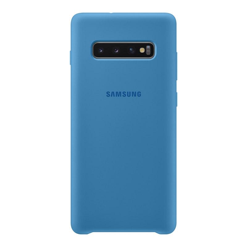 Samsung Galaxy S10+ Plus Silicone Cover - Blue