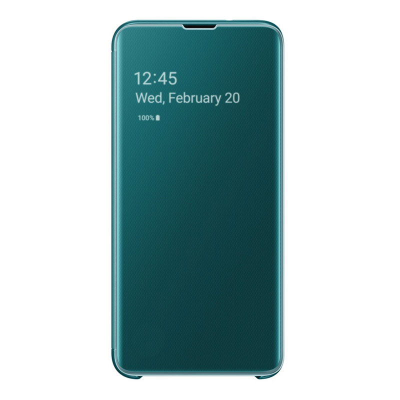 Samsung Galaxy S10e Clear View Cover - Green