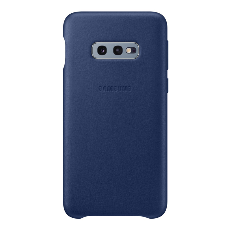 Samsung Galaxy S10e Leather Back Cover - Navy