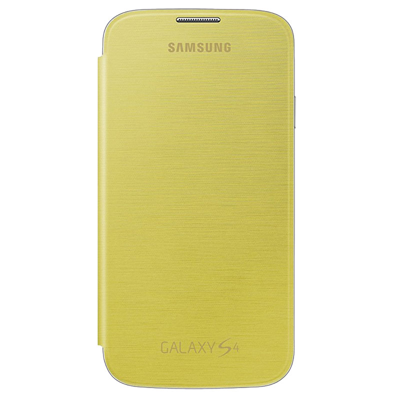 Samsung Galaxy S4 Flip Cover Yellow