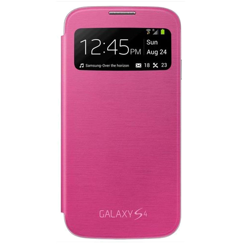 Samsung Galaxy S4 S-View/Clear Cover Pink