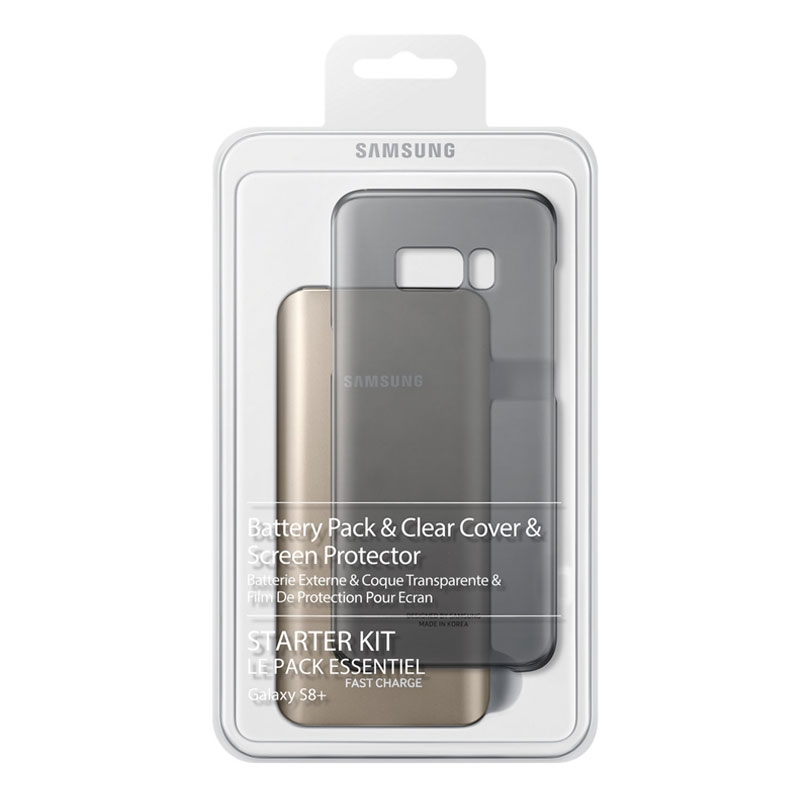 Samsung Galaxy S8+ Plus Starter Kit (Battery Pack, Clear Cover, Cable, Screen Protector)