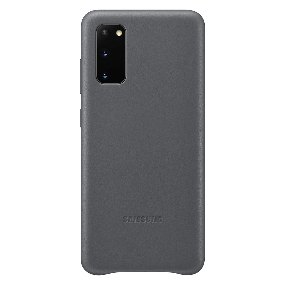 Samsung Galaxy S20 Leather Cover - Grey