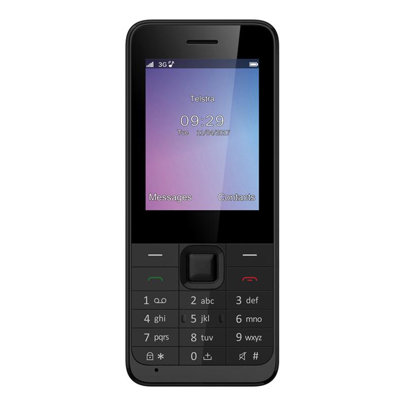 ZTE Lite F327S (3G 850, Keypad, Tel) - Black